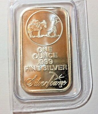 SPECIAL PRICE! SilverTowne Logo 1oz .999 Fine Silver Bar Sealed