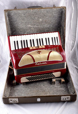 Hohner Lucia Ii 80 Bass 8 Reg.-Top German Piano Accordion+Org. Case~Rare Edition