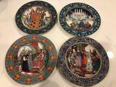Set of 4 Plates Heinrich Villeroy & Boch The Snow Maiden Russian Fairy Tales