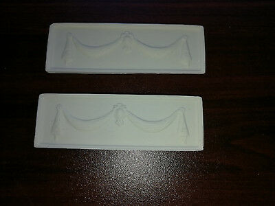 Dollhouse Miniature Wall Panels Curtain Swag Style 1:12 Scale Plaster