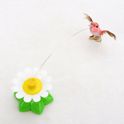 Pet Kitten Electric Rotating Bird Flower Cat Teaser Steel Wire Interactive Toyss