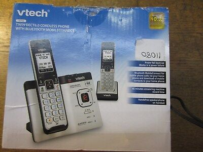 VTECH 15750 TWIN DECT6.0 CORDLESS PHONE  w BLUETOOTH ~ NEW IN SHED STORED BOX