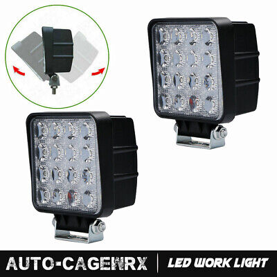 "18W 3X3""inch LED Pods Fog Light For 02-08 Dodge Ram"