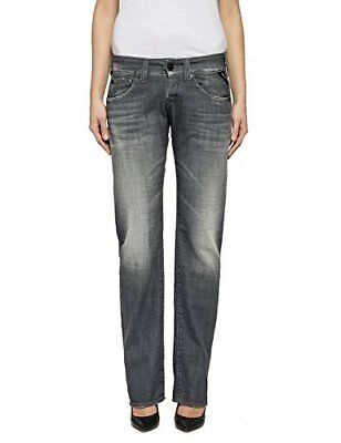 (TG. W26/L34) Grau (Grey Denim 9) Replay Newswenfani, Blu Donna, Grau (Grey Deni