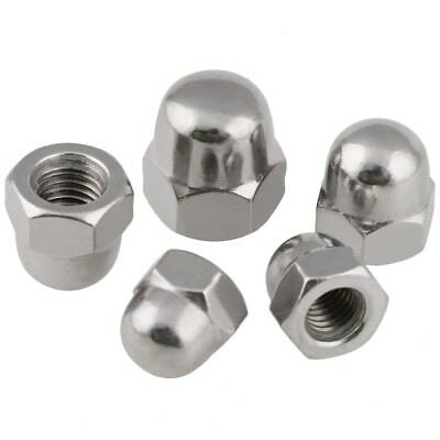 Qty 5 - M6 x 1mm Pitch Dome Nuts Acorn Hex Cap Nuts 304 A2 Stainless Steel