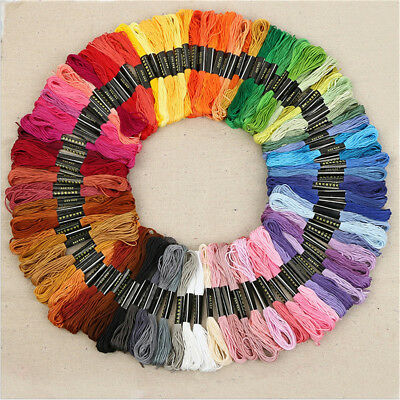 50 Color Egyptian Cross Stitch Cotton Sewing Skeins Embroidery Thread Floss  RN