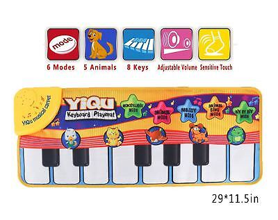 Floor Animal Music Mat Touch Kick Play Fun Baby Piano Toys for Kid Child's Gift