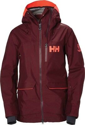 ba3adc413d Helly Hansen Aurora Shell Jacket (Women s) in Port Red  550 winter snow NEW