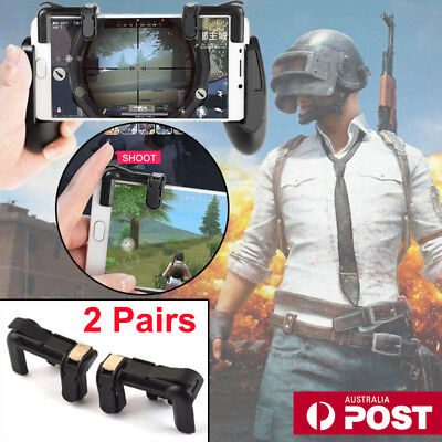 2 Pairs Gaming Trigger L1R1 Mobile Phone PUBG Fire Button Shooter Controller AU