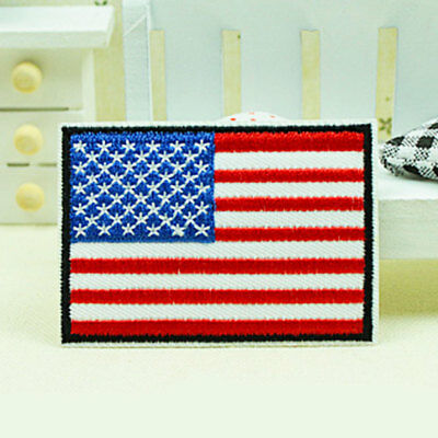 Nation Flag Emblem Non-Woven Patch Sewing Embroidered Sew Patches Trim