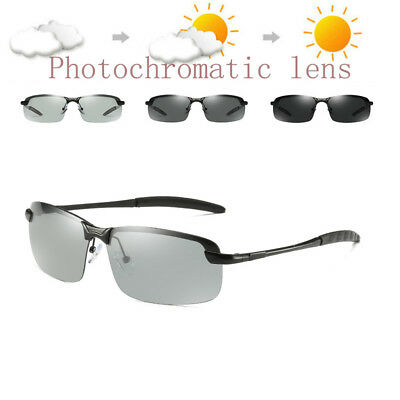 Photochromic Sunglasses Mens Polarized Eyewear Transition Lens Driving Glasses