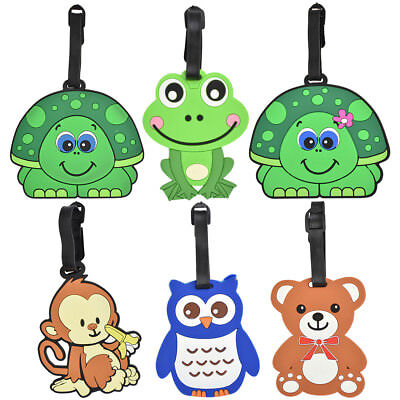 Luggage Tags for Kids Men Womens Travel Suitcase Duffel  Cute Animal Bag Label