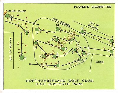 Cigarette Card Players Championship Golf Courses Northumberland Golf Club Lot 7