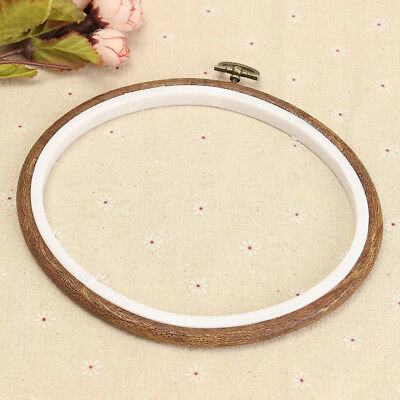"Elbesee Wooden Embroidery Cross Stitch Ring Hoop Frame from 4"" to 10"""