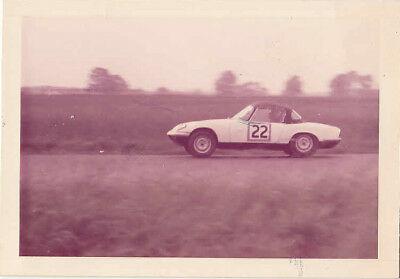 Lotus Elan Silverstone 19/7/63, Driven By G.warner, Entrant Chequered Flag Photo