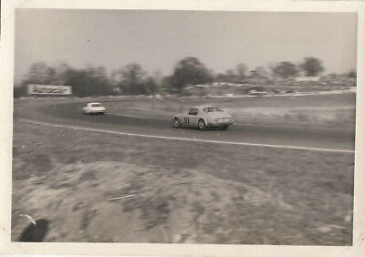 LOTUS ELAN DRIVEN BY R.J.CROSSFIELD, MELLORY PARK 28th MARCH 1965 PHOTOGRAPH.
