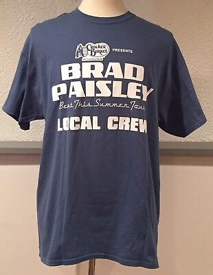 Brad Paisley Beat This Summer Tour Country Local Crew Blue T-Shirt Extra Large