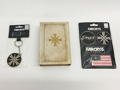 Far Cry 5 Merchandise: Bible Pin Badge Set, Schlüsselanhänger & Magnetset!