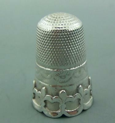 Delightful Antique Solid Silver Victorian Thimble