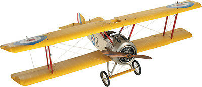 "XXL HUGE Sopwith Camel F.1 Biplane Model 65"" Wooden Airplane Decor New"
