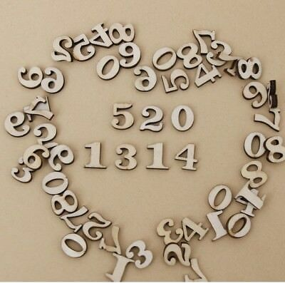 UK/_ 50//100//200x Letters Numbers Wooden Beads Flatback Embellishments Crafts Nove