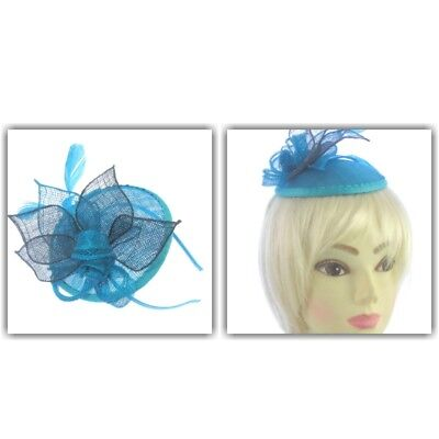Teal And Black Fascinator Headband ,Ascot,Races, Weddings,Prom