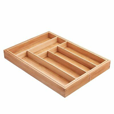Deik Bamboo Kitchen Drawer Organizer, Expandable Utensil and Cutlery Tray 3046M