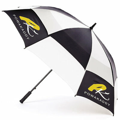 Powakaddy Gustbuster Golf Umbrella In White/Black- New with Tags