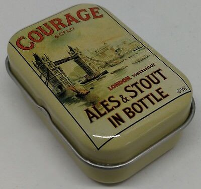 Courage ales stout beers in bottles vintage style metal wall plaque sign