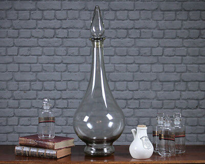 Antique Large Handblown Glass Apothecary's Carboy c.1900.