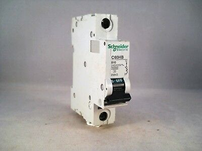 Schneider C60HB 10A 10AMP B Type B20 Single Pole 1P MCB Fuse Switch Unit 25845