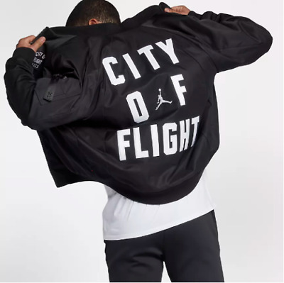 ae00fbbcf65687 Nike Jordan Sportswear City Of Flight Jacket Wings MA-1 LA SZ XL (911313