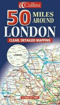 50 Miles Around London (Map) Sheet map, folded Book The Fast Free Shipping