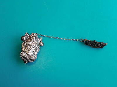 fe84e4298 Sterling Silver Jesters Drama Theater Lapel Tie Pins And Chain Jewelry