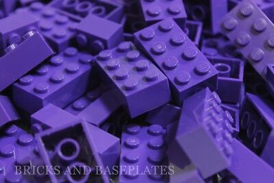 LEGO BRICKS 100 x PURPLE 2x4 Pin -From Brand New Sets Sent in a Clear Sealed Bag