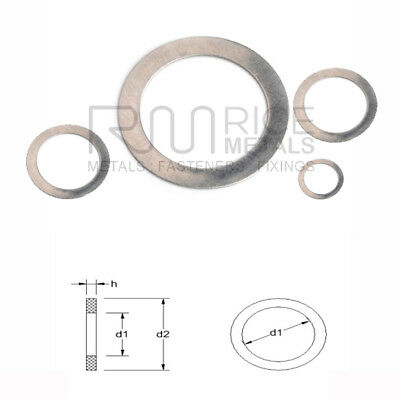 SHIM Washers Ring Washers A2 Stainless Steel Din 988 Various Sizes M3 up to M70