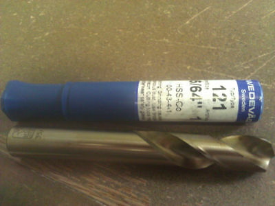 ".5469"" 35/64"" Cobalt Screw Machine Length Drill"