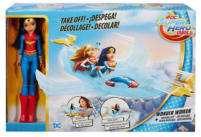 NEW DC Super Hero Girls Wonder Woman Action Doll W/ Invisible Jet (DYN05)