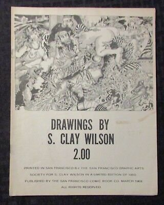 1969 DRAWINGS by S Clay Wilson VG+ 4.5 San Francisco Comic Book Co.