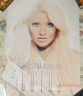 Christina Aguilera Lotus 2012 Taiwan Promo Poster (Your Body)