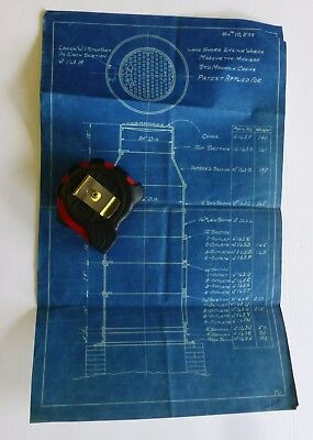 Manhole Casing Original Blueprint RARE  Patent UNKNOWN Lake Shore Engine Works
