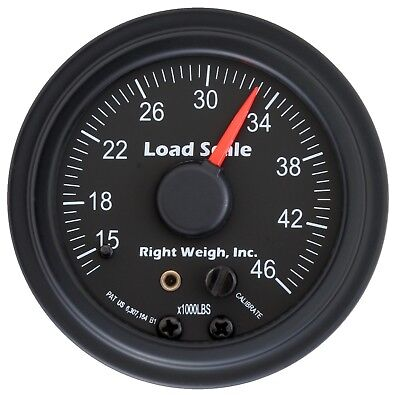Right Weigh 510-46-B Black TANDEM Axle Load Scale for Single HCV Air Suspension