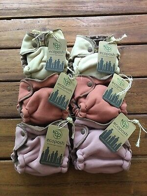 NEW! Kanga Care EcoPosh Recycled Organic Newborn Fitted Cloth Diapers HTF Colors