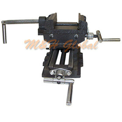 """3"""" Jaw 2 Way Cross Vise Slide Drill Clamp Holder Drilling Milling Tool"""