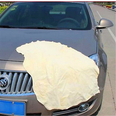 1 Pc Sheepskin Natural Genuine Leather Drying Cleaning Towel Free Shipping