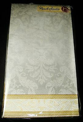 PUNCH STUDIO 32 Guest Towels 3-Ply Paper Napkins Silver Brocade ...