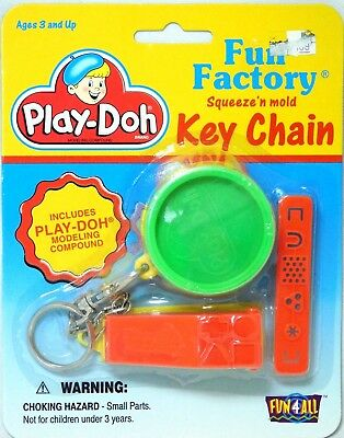 PLAY-DOH FUN FACTORY Basic Fun 4 All Vintage/Nostalgic Mini Game Toy Key