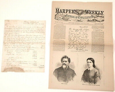 Lincoln Assassination Mastermind & J.w. Booth Handler George N. Sanders Document