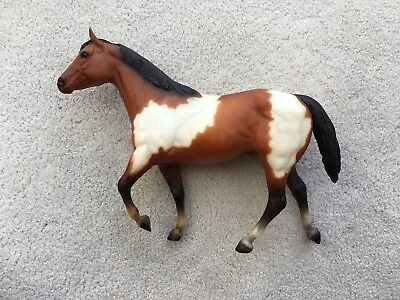 Vintage Breyer Stock Horse Stallion Brown White Pinto JCPenney Holiday SR 1984