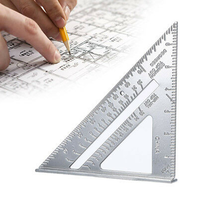 "Quick Roofing Rafter Triangle Ruler Guide 7""Aluminum Alloy Speed Square 1pcs P2B"